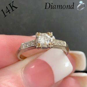 Vtg 14K 0.33 ctw Diamond Promise/Engagement Ring